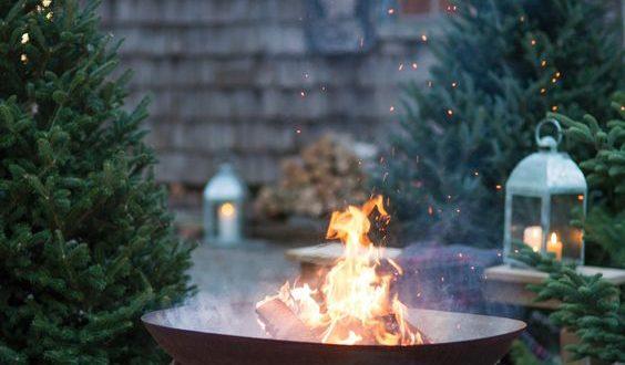 chimeneas en navidad